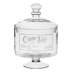 Candy shop pedestal sweet jar