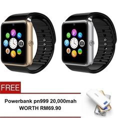 Buy Smart Watch GT08 Digital Wearables Smart Watches - 2 Set(Gold/Silver) + Free Powerbank PN999 20,000mah online at Lazada. Discount prices and promotional sale on all. Free Shipping.