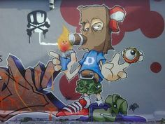 by CHEO (Bristol) Graffiti Piece, Graffiti Drawing, Graffiti Murals, Graffiti Lettering, Mural Art, 3d Street Art, Street Art Graffiti, Street Artists, Arte Hip Hop