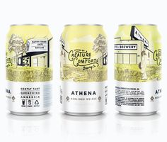 Creature Comforts Brewing Co. — The Dieline - Package Design Resource