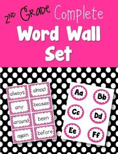 Are you looking for a word wall that contains a carefully chosen set of words that will help build more fluent readers and writers? I have created a more comprehensive set of words for my word wall. It does include most of the 2nd grade Dolch words, but then it also includes specific high frequency words and commonly misspelled words. This creates a more thorough and useful list of sight words for students to use.