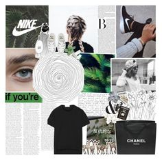 """""""everyone thinks that we're perfect"""" by watsoniz ❤ liked on Polyvore featuring NIKE, E + J, adidas, Dr. Martens, Chanel and Assouline Publishing"""