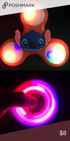 Stitch Fidget Hand Spinner Stitch from Lilo & Stitch Disney movie hand fidget spinner - color will be sent randomly based on availability- new in box Other