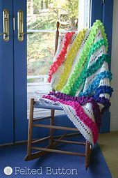 Ravelry: Ruffled Ribbons Blanket & Mat pattern by Susan Carlson  $5.50