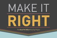 Infographic: The Make It Right Foundation | ArchDaily