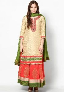 ethnic fashion trends-Long Kurti with Palazzo