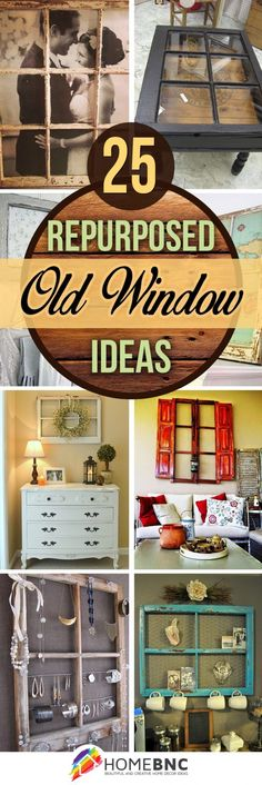 Looking for fun decor and have windows left over from your replacement? Here are some fun ideas to use those old windows around your house.