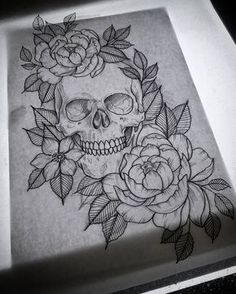 Skull Tattoo • • • Follow now & Pin Kel Thomson.