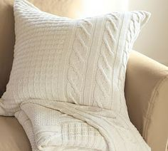 How to make a sweater pillow out of used sweater