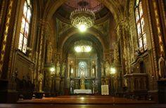 Interior de la Iglesia de Santa Felicitas, Buenos Aires, 1870.