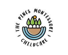 The Pines Montessori Childcare Popular Logos, Childcare, Montessori, Pine, Pine Tree, Parenting