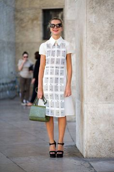 @roressclothes closet ideas #women fashion outfit #clothing style apparel white midi dress
