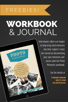 Get this printable workbook for free! Use your photos to journal your memories in the Photo Memories workbook!