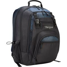 Targus XL Travel and Business Backpack for Laptop, Large Commuter with Black/Blue Accents Backpack With Wheels, Backpack For Teens, Backpacks For Sale, Girl Backpacks, Sunglasses Storage, Latest Laptop, 17 Inch Laptop, Best Computer, New Laptops