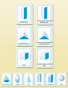 Geometric Solids Matching Cards | Montessori Research and Development - Montessori materials, teacher manuals and books