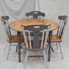 farmhouseGreyRoundDiningSet1st500x500 Dining Chairs, Furniture, Home Decor, Decoration Home, Room Decor, Dining Chair, Home Furnishings, Home Interior Design, Dining Table Chairs