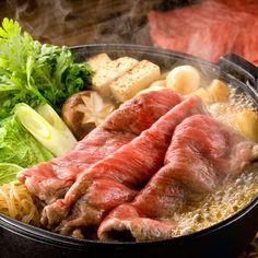 sukiyaki, marbled beef