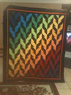 Lightening. Another simple quilt that looks complicated. I love these!