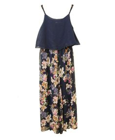 Retro Condole Belt Jumpsuits with Floral Print - Jumpsuits & Rompers - Clothing