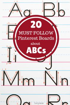 20 Must Follow Pinterest Boards about Alphabet Activities and ABCs