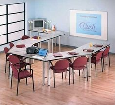 Bush Business Furniture Aspen Trapezoid Training Table & Reviews | Wayfair