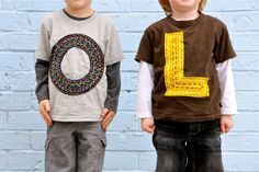 """Make your own Lettered T-Shirt (aka """"Sprinkle Shirts"""") at http://www.dana-made-it.com/2008/07/tutorial-sprinkle-shirts.html"""