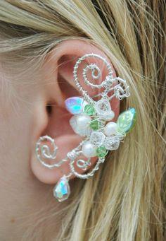 Sidhe Fae Ear Cuff - close up by *SashaFitzgerald on deviantART.
