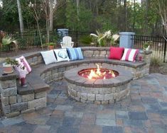 Fire pit. Love the pavers