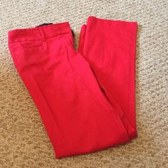 Express pants Red Express Columnist pants. Pre loved but great condition. Size 2S Express Pants