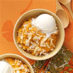 "Baked Sweet Potato Pudding Recipe -I always have lots of leftover sweet potatoes, but when I make this, they're gone faster than you can say ""Thanksgiving!"" Any ice cream flavor will do, though vanilla bean seems to be an ideal companion. —Joyce Welling, Swanton, Ohio"