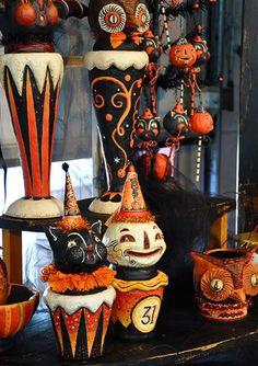 outdoor vintage halloween decorations