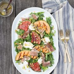 Grilled Melon Salad with Prosciutto and ...