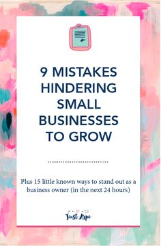9 mistakes hindering small businesses to grow - As a business owner, you want to do well in business right? You want it to grow and perform well. In order to do so, marketing plays an integral part in the process. This is why you should always look for a way to make your brand stand out in your niche. You've read plenty of blog posts and articles regarding marketing which might have compelled you to create a marketing plan. You are on the right path, having a solid marketing plan is the…