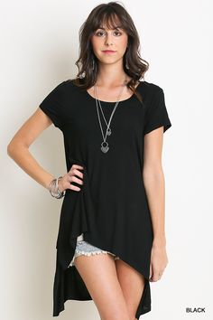 Not So Basic Short Sleeve Top #JessLeaBoutique