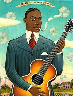 Robert Johnson by artist Marc Burckhardt http://jacquiephelan.files.wordpress.com/2011/05/robert-johnson1.jpg