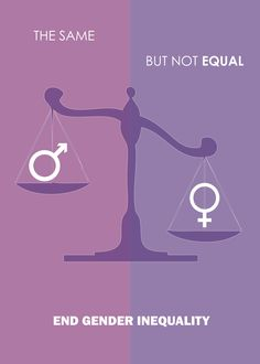A mockup of a Gender Equality poster i'm working on, not for commercial use