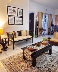 Decor Home Living Room, Home Decor Furniture, Home And Living, Living Room Designs, Kitchen Furniture, Furniture Design, India Home Decor, Ethnic Home Decor, Indian Living Rooms