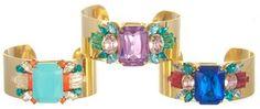 Sandy Hyun Colored Crystal Cuffs