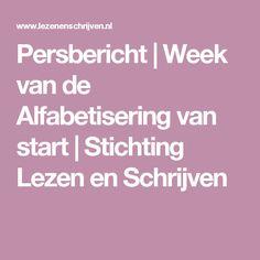 Persbericht | Week van de Alfabetisering van start | Stichting Lezen en Schrijven