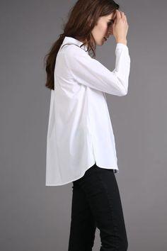 Mit dem klassischen Popeline Hemd von Lanius bist du bestens ausgestattet für den Tag und den Abend. Coole und moderne Eco Fashion - toll!