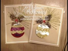 Stampin' Up! Glimmer Window Ornament Card - YouTube