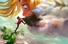 Gigantic, inspired by Jack and the Beanstalk, is coming to theatres in 2018! The film will be directed by Tangled's Nathan Greno and will feature music from Frozen songwriters Kristen Anderson-Lopez and Robert Lopez! #D23Expo