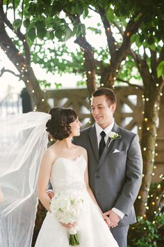 Twinkle lights, lace veil, side updo, photo by Yazy Jo