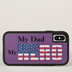 #women - #My Dad - My HERO with Your Custom Text iPhone X Case