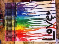 Melted Crayon Art!!!
