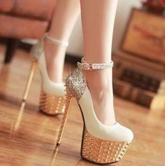 heels on the platform