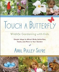 Touch a Butterfly: Wildlife Gardening with Kids--Simple Ways to Attract Birds, Butterflies, Toads, and More to Your Garden, April Pulley Sayre Gardening For Beginners, Gardening Tips, Gardening Books, Simple Butterfly, Thing 1, Viewing Wildlife, Animal Habitats, How To Attract Birds, Natural Garden
