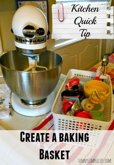 Create a kitchen baking basket, kitchen organization