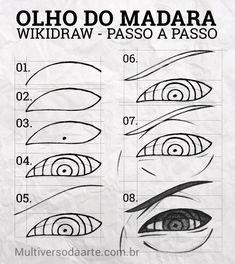 How To Draw Anime Eyes, Manga Eyes, Naruto Eyes, Anime Naruto, Naruto Drawings, Art Drawings Sketches Simple, Manga Drawing Tutorials, Drawing Tips, Body Reference Drawing