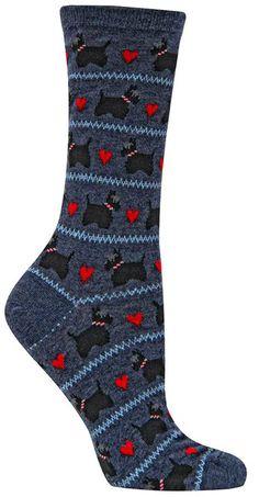 Bichon Frise Dog Heart Paws Pattern Men-Women Adult Ankle Socks